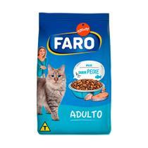 Ração Faro para Gatos Adultos Mix de Peixes - 1kg -
