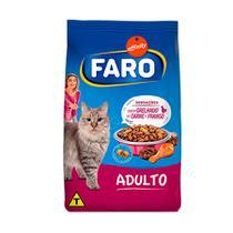 Ração Faro para Gatos Adultos sabor Carne e Frango - 1kg -