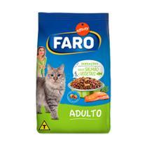 Ração Faro para Gatos Adultos Sensiveis sabor Salmão 10,1kg -