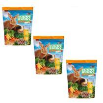 Ração Funny Bunny para Pequenos Roedores E Porquinho Da India kit com 3 unidades - Supra