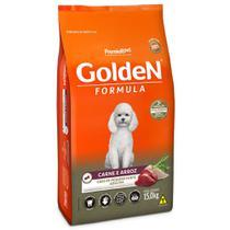 Ração golden formula cães adulto carne/arroz raças pequenas 15kg - Premier
