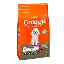 Ração Golden Fórmula Cães Adultos Carne Raças Pequenas 15kg -