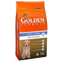 Ração golden formula cães filhotes carne  arroz 15 kg -