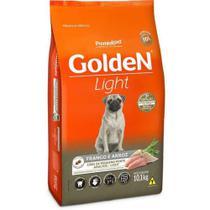 Ração Golden Formula Light para Cães Adultos de Raças Pequenas Sabor Frango e Arroz -