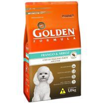 Ração Golden Fórmula Mini Bits Cães Adultos Raças Pequenas Sabor Frango e Arroz - Premier