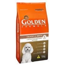 Ração Golden Fórmula Mini Bits Cães Adultos Raças Pequenas Sabor Salmão e Arroz 15 kg -