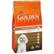 Ração Golden Fórmula Mini Bits Cães Adultos Raças Pequenas Sabor Salmão e Arroz 15kg -