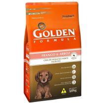 Ração Golden Fórmula Mini Bits Cães Filhotes Raças Pequenas Sabor Frango e Arroz -