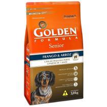 Ração Golden Fórmula Mini Bits Cães Sênior Raças Pequenas Sabor Frango e Arroz 3 kg -