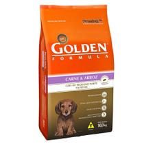 Ração Golden Fórmula para Cães Filhotes de Porte Pequeno Sabor Carne e Arroz -