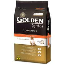 Ração Golden Gato adulto Castrado - Salmão - 10,1kg -