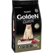 Ração Golden Gatos Adultos Castrados Carne -