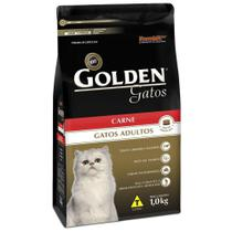 Ração Golden Gatos Adultos Sabor Carne 10 k -