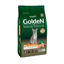 Ração Golden Gatos Seleção Natural Adultos Frango e Arroz - 10,1 Kg - Premier