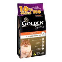 Ração Golden para Gatos Adultos Castrados Sabor Salmão 11,1kg Big -