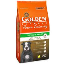 Ração Golden Power Training Cães Adultos Sabor Frango e Arroz 15kg -