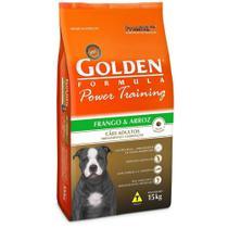 Ração Golden Power Training Cães Adultos Sabor Frango e Arroz 15kg -