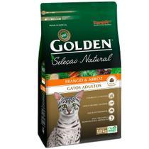 Ração Golden Seleção Natural Gatos Adultos Sabor Frango e Arroz 10,1 Kg - Premier