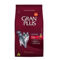 Ração Gran Plus Gato Adultos Castrados Carne 10,1kg - Guabi -