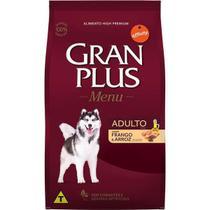 Ração Gran Plus para Cães Adultos Sabor Frango e Arroz 20 Kg - Guabi