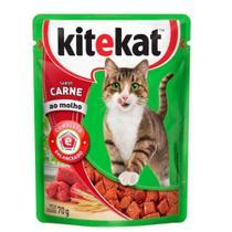Ração Kitekat Sachê Carne para Gatos Adultos 70 gr -