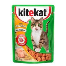Ração Kitekat Sachê Frango para Gatos Adultos 70 gr -