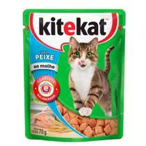 Ração Kitekat Sachê Peixe para Gatos Adultos 70 gr -
