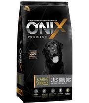 Ração Onix Adulto Premium Carne e Arroz 20kg -
