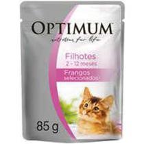 Ração Optimum Sachê Frango para Gatos Filhotes -