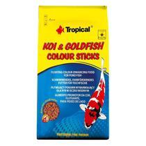 Ração p/ Peixes Tropical Koi Goldfish Colour Sticks- Bag 4kg -