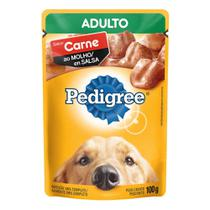 Ração para Cães Pedigree Adulto Sachê Sabor Carne ao Molho 100g -