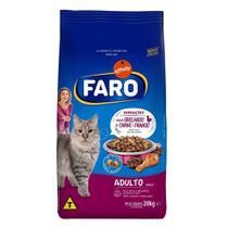 Racao para Gatos Adultos Sabor Carne e Frango 20 Kg Faro -