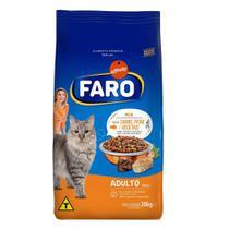 Racao para Gatos Adultos Sabor, Carne, Peixe e Vegetais 20 Kg Faro -