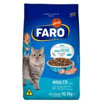 Racao para Gatos Adultos Sabor Peixe 10. kg Faro -