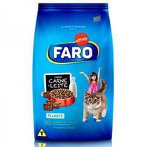Racao para Gatos Filhotes Sabor Carne e Leite 1 Kg Faro -