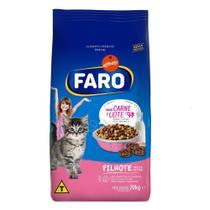 Racao para Gatos Filhotes Sabor Carne e Leite 20 Kg Faro -