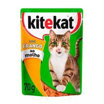 Ração para Gatos KiteKat Adulto Sabor Frango ao Molho 70g -