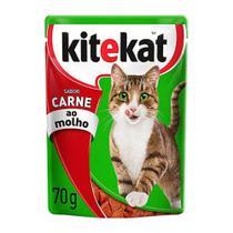Ração para Gatos Kitekat Sabor Carne ao Molho Sachê 70g -