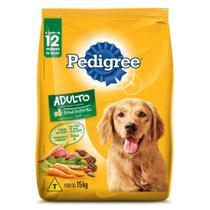 Ração Pedigree Carne e Vegetais Para Cães Adultos Raças Médias e Grandes 15 kg -