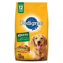 Ração Pedigree Carne e Vegetais Para Cães Adultos Raças Médias e Grandes 18 kg -