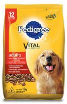 Ração Pedigree Carne, Frango e Cereais para Cães Adultos - 15 Kg -
