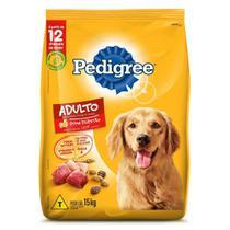 Ração Pedigree Carne Frango e Cereais Para Cães Adultos Raças Médias e Grandes 15 kg -