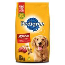 Ração Pedigree Carne Frango e Cereais Para Cães Adultos Raças Médias e Grandes 18 kg -