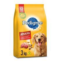 Ração Pedigree Carne Frango e Cereais Para Cães Adultos Raças Médias e Grandes 3 kg -