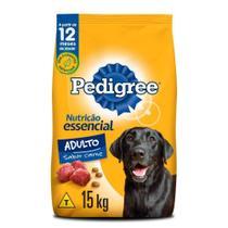 Ração Pedigree Nutrição Essencial Carne Para Cães Adultos Raças Médias e Grandes 15 kg -