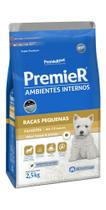 Ração Premier Ambientes Interno Cães Filhotes Raças Pequenas Sabor Frango e Salmão - Premier pet -