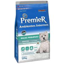 Ração Premier Ambientes Internos Cães Adultos Raças Pequenas Sabor Frango e Salmão - Premier Pet -