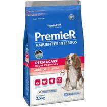 Ração Premier Ambientes Internos Dermacare Para Cães Adultos Sabor Salmão - Premier Pet -
