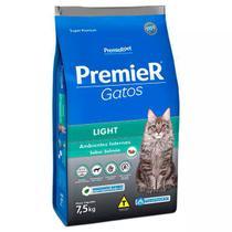 Ração Premier Ambientes Internos Light para Gatos Sabor Salmão -