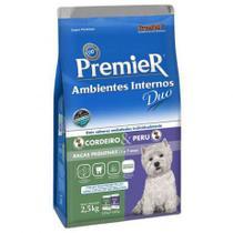Ração Premier Ambientes Internos para Cães Adultos Raças Pequenas 1KG - Totalvet